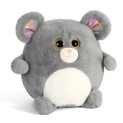 둥근 플라스틱 눈 15cm 귀여운 부드러운 플러시 장난감 귀여운 원형 박제 동물