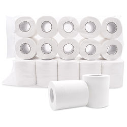 白く柔らかい浮彫りにされたCustomsizedの金庫&Healthy100%のバージンのタケパルプのトイレットペーパーのペーパーによってリサイクルされるバージン大きいロールトイレットペーパーを使用してホームホテルのレストラン