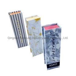 ألوان كاملة مخصصة لوحة البطاقات ورق ليبستاموس تجميلي صندوق التغليف/LIP لامع/ LIP Glaze Box مع إدراج