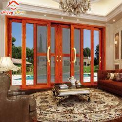 Горячая продажа алюминия и алюминиевых обо всех видов Деревянные зерна дверная рама перемещена скользящего окна стекла окна