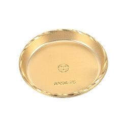 일회용 플라스틱 보드, 100CS/Bag Gold Cake Board Rounds Base Circle Mini Cake Stand Dessert Plate for Wedding/Birthday/Christmas Parties(Gold, 6cm 7.5cm)