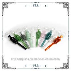 أنابيب Pyrex Glass للمدخنين Hookah اكسسوارات الزجاج أنبوب المياه حارق زيت الزجاج المنحني Helix
