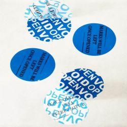 Los restos de adhesivo de alto vacío; vacío de seguridad personalizado sello