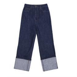 2020 Último projeto Senhoras Grosso Jeans de cintura elevada clássico Grande Vintage calça de perna namorado calças de ganga