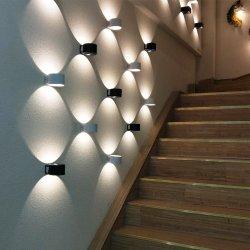 2X5w Piscina Up Down Indicador de montagem na parede parede parede LED RGB de Luzes do Cilindro