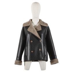 يمكن تخصيص Coat الشتوية من خلال F-Piece Women′ S Top من قطعة واحدة الملابس ذات اللون البني الداكن/الأسود ذات اللون الأسود أو اللون الأسود