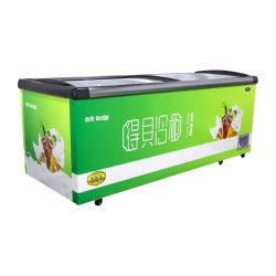 Réfrigérateur commercial de l'île d'affichage de la poitrine de réfrigérateur congélateur vertical de supermarchés et de la poitrine