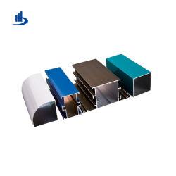 2019 Xiamen fábrica de aluminio anodizado puerta del armario y el bastidor de perfiles de aluminio