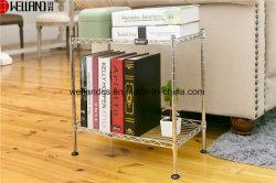 간단한 탁자 책장 저장 소형 가정 사용 신문대 DIY 금속 책꽂이