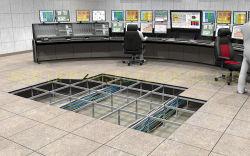 600mm antistatischer zementartiger voller Stahl angehobener Zugriffs-Fußboden mit PVC/HPL Fliese