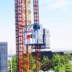 2 Ton Construção de equipamentos de elevação do elevador de construção construção de pequenos materiais de elevação do elevador
