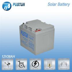 太陽ライトのためのPustun 12V38ah SLA VRLAの深サイクルの長い生命デザイン蓄電池