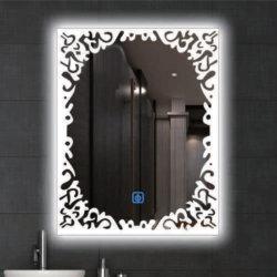 ديكور المنزل LED ضوء تجميل عصرية ماكياج الفضة الديكور الأثاث مرآة الحمام