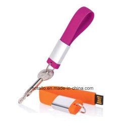 محرك أقراص USB محمول من نوع Bacelet USB بسوار مع شعار الطباعة