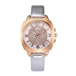 Pierre minimaliste face étanche de quartz analogique de montres de luxe des femmes WY-051
