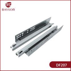 La fine inferiore montata di sotto invisibile di morbidezza del supporto di estensione completa delle 2 volte idraulica cela la trasparenza del cassetto (DF207)