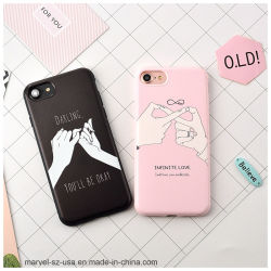 Telefon-Deckel-Handy-Fall des Paar-Geliebten rosafarbener des Schwarz-TPU für iPhone 7 6 6s 7plus Xs maximales X 8