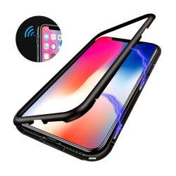 Cas magnétique Anti Peeping verre trempé double face de l'adsorption magnétique Étui pour iPhone/Samsung/Xiaomi/Huawei/Vivo