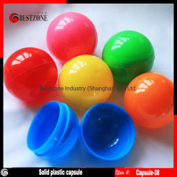 Multi sfere vuote di plastica solide della capsula di colori 38mm