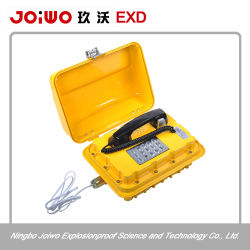 Color amarillo y teclado completo Teléfono de Emergencia industrial resistente Explosionproof Teléfono Teléfono