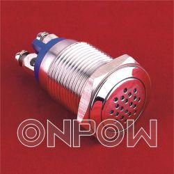 De Zoemer van het Metaal van Onpow (GQ16B-M/DC12V, 16mm, Ce, RoHS)