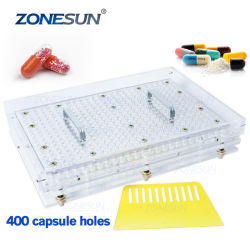 Zonesun ZS-400 홀 수동 캡슐 충전 기계 제약 캡슐 메이커 DIY 분말 충진 기계용
