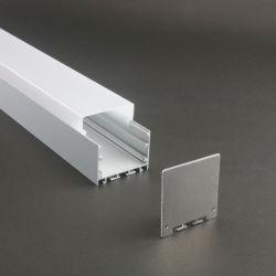 W50*H48mm Aluminiumkanal-Halter für LED-Streifen-hellen Stab unter Schrank-Lampe