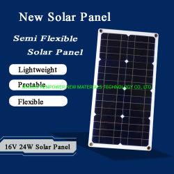 Mini semi-portátil de 16 V ultra Thin16V, 24 W, 12 W, 18 V, 10 W Carregador solar flexível Painel solar Mono pequeno