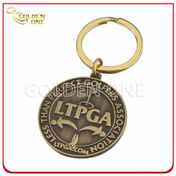 Custom Embossed Logo Antique Bronze Metal Key Chain