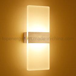Светодиодный настенный светильник современные светильники лестницы Светильник рассеянного света ламп наружного зеркала заднего вида на прикроватном мониторе с одной спальней внутреннего освещения 6W 12W прихожей Loft Silver