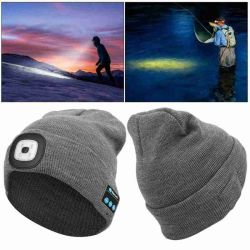 Winter Strickmütze mit Light Earphone Bluetooth LED Light Leuchtende Outdoor Bergsteigen Handfree Musik Kopfhörer Hut