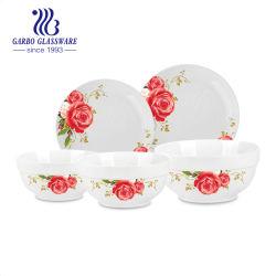Diseño personalizado de porcelana vajilla de cerámica platos y tazones día madre regalos para la familia