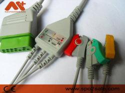 Nihon Kohden compatível com cabo de ECG para o BSM 2301K com certificado CE&ISO13485