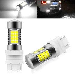 Bianco 7440 del xeno un rimontaggio delle 992 lampadine di T20 W21W 7443 con l'obiettivo del proiettore per gli indicatori luminosi di freno della coda dei camion