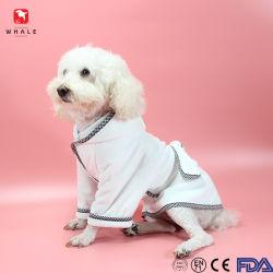 Feiertags-weich Absorptionsmittel Microfiber Haustier-Hundebademantel 100% für Haustiere