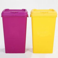 شعار مخصص سعة 53 لتر، قابل للتكديس، محكم، سلة لتخزين طعام الكلاب البلاستيكية
