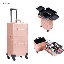 Tren de Laminación de belleza cosmética profesional caso maquillaje aluminio Carro Caja de herramientas