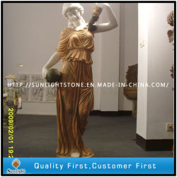 Blanc/beige/Gold statue en marbre/sculpture, Sculpture sur pierre