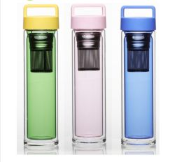 Precio barato el frasco de cristal la botella de agua