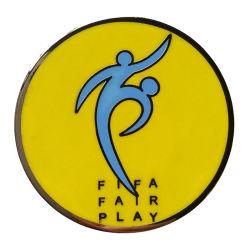 Ambachten van het Embleem van de Markering van het Muntstuk RFID van de Uitdaging van het Kenteken van het Metaal van het Spel van FIFA van de Fabrikant van het Muntstuk van de Uitdaging van het metaal de Eerlijke Euro Functionele (muntstuk-070)
