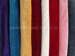 92% polyester 8% Spandex KS Warp Knitting Koreaans van hoge kwaliteit Fluwelen Velour stof voor Garment
