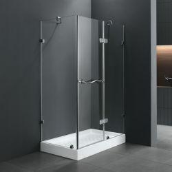 Salle de bains simple salle de douche en verre trempé de 6 mm (M-652)