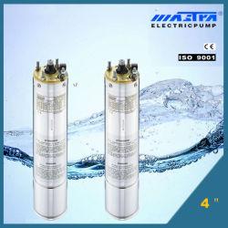 4 pouces de l'huile moteur de pompe submersible de refroidissement