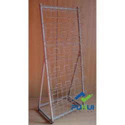 Bildschirmanzeige-Regal multi des Reihe-Draht-Taschen-Rahmen-Fußboden-stehendes MetallDVD