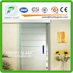 het Duidelijke Zure Geëtstei Glas van 212mm/Berijpt Glas/Decoratief Glas/het Glas van de Badkamers/het Glas van de Deur/Aangemaakt Glas/de Bril van de Veiligheid met Enige Zij of Dubbele Kanten