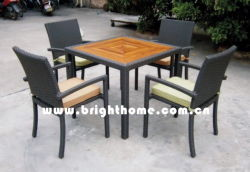 屋外の椅子とテーブルダイニングレジャーガーデンパティオや籐家具 BP-379