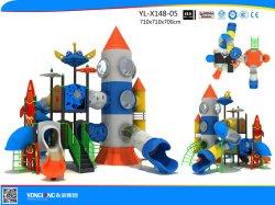 TUV et populaire moderne à l'extérieur de l'espace de terrain de jeux pour enfants Thème Les enfants de la diapositive de l'équipement de terrain de jeux de plein air en plastique