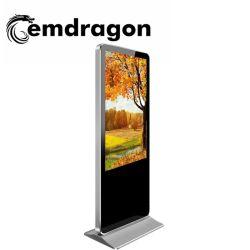 映画広告プレーヤーを広告するOEM ODM 43インチの極めて薄い縦のキオスクLED/表示を広告するLCDデジタルの表記のタッチ画面のキオスク
