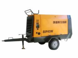 8bar 75kW SEP420E Tragbarer Schraubenluftverdichter, angetrieben durch Elektrizität Zum Sandstrahlen, Bohren von Löchern