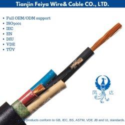 Conductor de aluminio/cobre con aislamiento de goma resistente al agua subterránea en el exterior del cable eléctrico Cable Eléctrico Cable de alimentación de la minería de la soldadura flexible